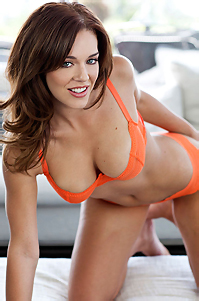 Charlie Boyde In Hot Orange Lingerie