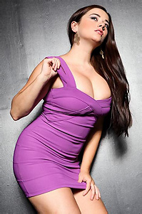 Taylor Vixen Purple Dress